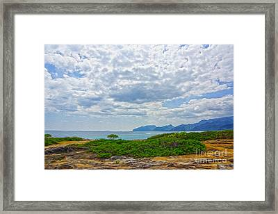 Cloudy Day In Oahu Framed Print by Nur Roy