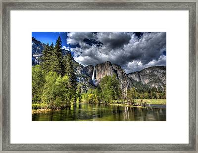 Framed Print featuring the photograph Cloudy Day In Yosemite by Shawn Everhart