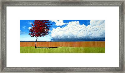 Cloudy Day Framed Print by Michael Dillon