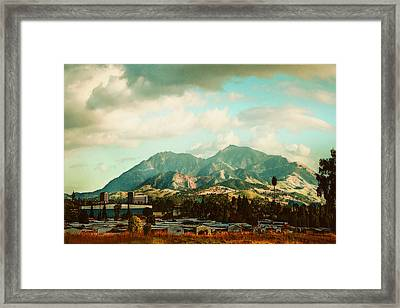 Cloudy Day On Mt Diablo In San Francisco Bay Area Framed Print by Dorothy Walker