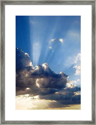 Cloudy Day Rays Framed Print by Dorothy Berry-Lound