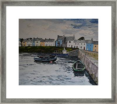 Cloudy Day Roundstone Connemara Framed Print