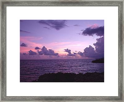 Cloudy Horizon Framed Print by Marianne Miles