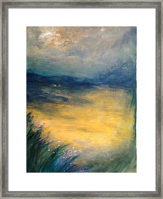 Cloudy Horizon Framed Print
