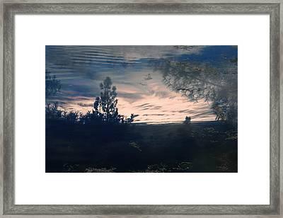 Cloudy Lake Framed Print by Nicole Swanger