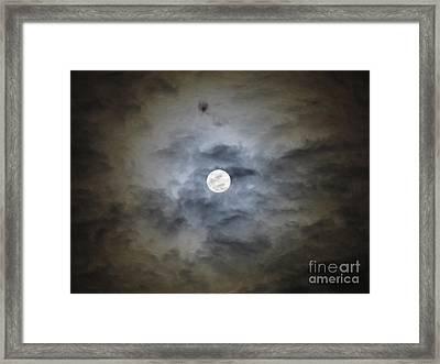 Cloudy Moon 2 Framed Print