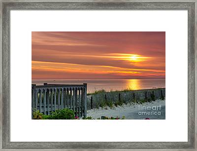 Framed Print featuring the photograph Sandy Neck Beach Sunrise by Mike Ste Marie