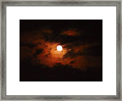 Cloudy Night Sky Framed Print