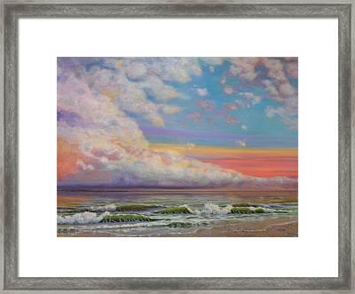 Cloudy Potomac River Framed Print