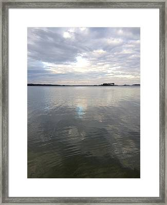 Cloudy Reflection Framed Print by M West