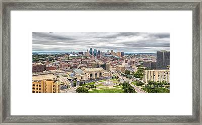Framed Print featuring the photograph Cloudy Sky Over Kansas City by Sophie Doell