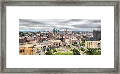 Cloudy Sky Over Kansas City Framed Print