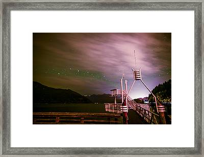 Cloudy Stars At Porteau Cove Provincial Park Framed Print