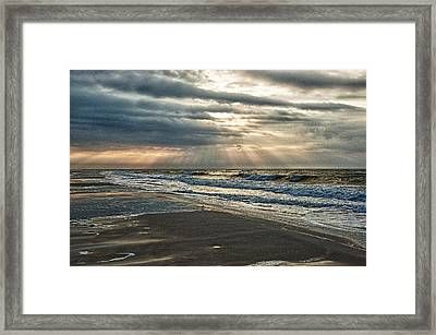 Cloudy Sunrise Framed Print by Michael Thomas