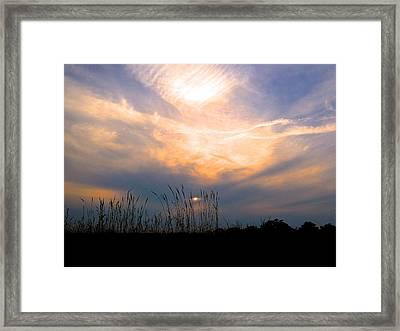 Cloudy Sunrise Framed Print