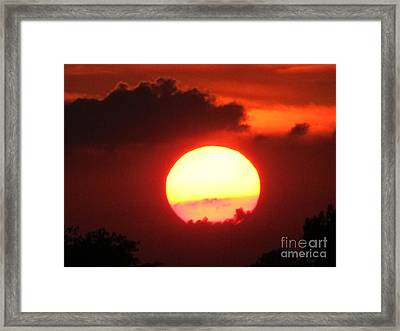 Cloudy Sunset 21 May 2013 Framed Print