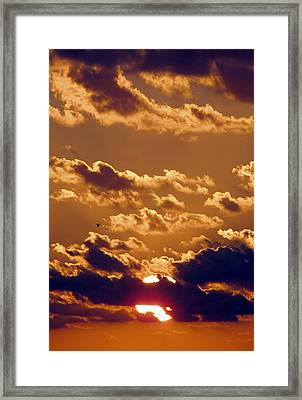 Key West Cloudy Sunset Framed Print