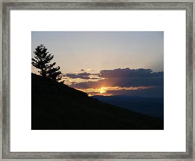 Cloudy Sunset Framed Print by Jenessa Rahn