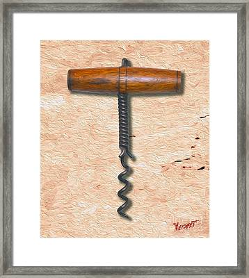Clough Corkscrew Painting 3 Framed Print