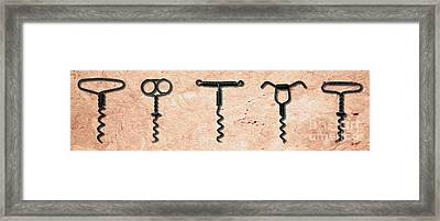 Clough Single Wire Corkscrews Painting Framed Print