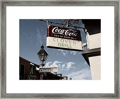 Clover Grill Framed Print