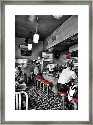 Clover Grill - New Orleans Framed Print by Bill Cannon