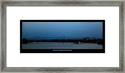 Clover H Cary Bridge Framed Print by David Lester