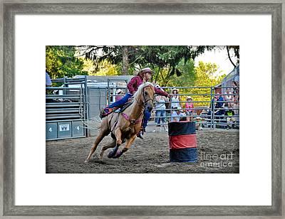 Clover Runner Framed Print