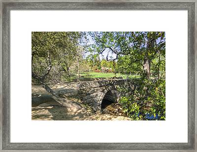 Clover Valley Park Bridge Framed Print