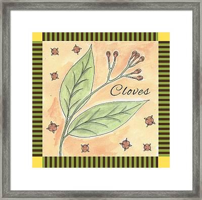 Cloves Garden Art Framed Print by Christy Beckwith