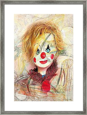 Clown 394-08-13 Marucii Framed Print