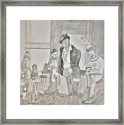 Clown Bar Framed Print by George Harrison