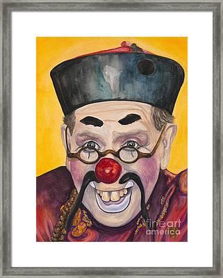 Watercolor Clown #15  Bill Gillespie Framed Print by Patty Vicknair