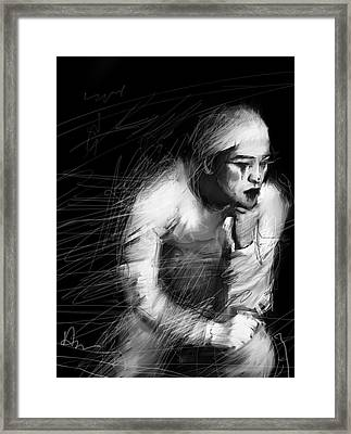 Clown Framed Print by H James Hoff