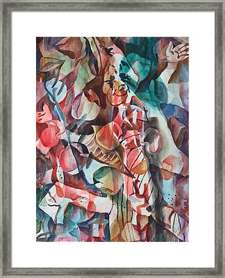 Clown I Framed Print by Vanya