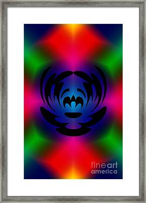 Clown In Color Framed Print by Steve Purnell