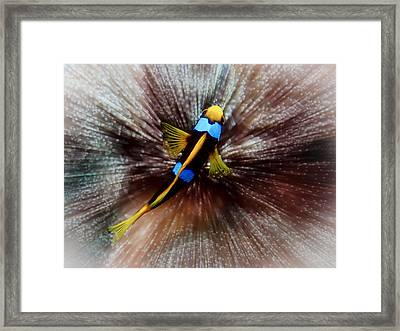 Clown Framed Print by Jean Noren