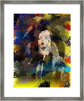 Framed Print featuring the digital art Clown by Kelly McManus