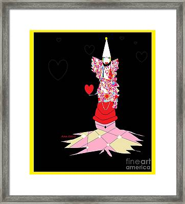 Clown Love Framed Print