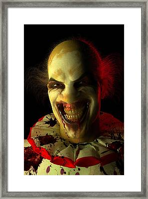 Clown Framed Print by Matt Lindley