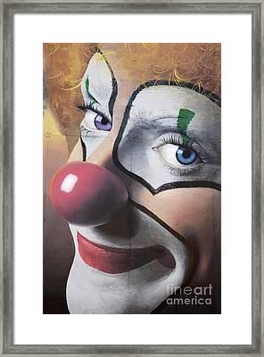 Clown Mural Framed Print