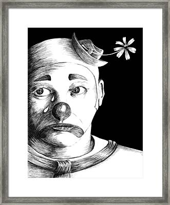 Clown Of Tears Framed Print
