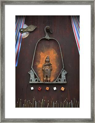 Clown On A Swing  C2011 Framed Print by Paul Ashby