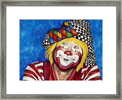 Watercolor Clown #16 Ron Maslanka Framed Print by Patty Vicknair