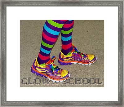 Clown School Framed Print