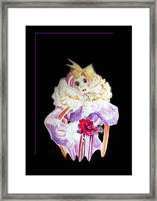 Clown Thinking Blank For You Framed Print