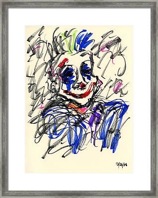 Clown Thug I Framed Print by Rachel Scott