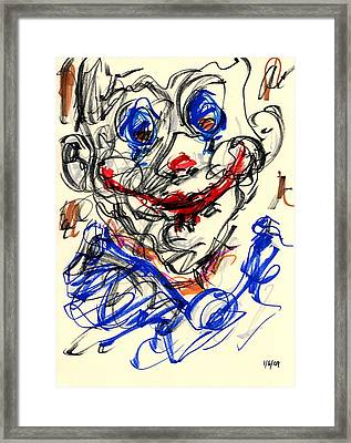 Clown Thug V Framed Print by Rachel Scott