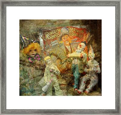 Clowning Bright Framed Print by Barbara R MacPhail