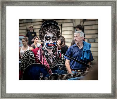 Clowning Framed Print by Matthew Onheiber